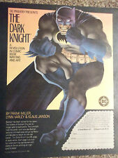 1986 Batman The Dark Knight Comic Book Writing and Art Advertisement