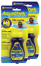 2 Pack 4 Way Aquachek Chlorine Test Strip Hot Tub Swimming Pool Spa 100 Strips
