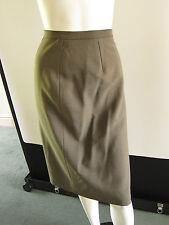 M & S Ladies Vintage Italian Wool Skirt. Waist 34  Length 25 sIZE 18 taupe