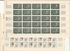 AMN. MAROC LOT 3 PLANCHES DE 25 TIMBRES DIVERSES 1962