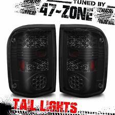 Stealth For 1993-1999 Ford Ranger LED Black Housing Smoke Lens Tail Lights Lamps
