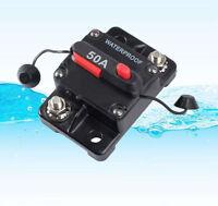 50A AMP Circuit Breaker Dual Battery Manual Reset IP67 W/proof 12V 24 Volt Fuse