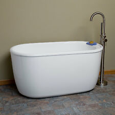 "55"" Vada Acrylic Soaking tub with Tap Deck with No Faucet Holes"