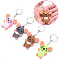 PVC Soft Litter Mouse Pendant Key ring Key chain Car Bag Key Souvenir Gifts  kl