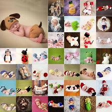 Newborn Infant Christmas Theme Photography Clothing Suspender Trousers + Hat Set