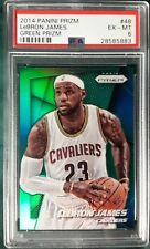 2014 PANINI PRIZM GREEN PRIZM LEBRON JAMES CARD #48 PSA 6 CLEVELAND  CAVALIERS