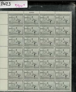 RW23 1956 FULL FEDERAL DUCK STAMP SHEET.   VERY SCARCE .