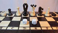 Ajedrez, ajedrez dama + + backgammon tablero de ajedrez 35 x 35 cm de madera