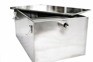 Commercial Stainless Steel 110ltr Grease Trap Interceptor Fat Traps Restaurant