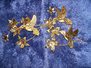 "1237 BLOSSOMS & BUTTERFLIES WALL ART HANGING PLAQUE metal NEW IN BOX 18"" W"