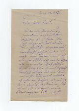 Carl Helmerding SIGNED 1887 letter by 19th century German actor & comedian: RARE