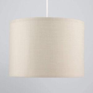 CGC Cream Silver Inner 30cm Drum Lamp Fabric Shade Pendant Table Lamp Bedroom