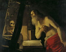Gerard Van Honthorst Follower St Jerome Giclee Canvas Print Paintings Poster