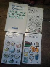 Lot de 4 livres de Raymond Queneau Le dimanche de la vie Exercices de style