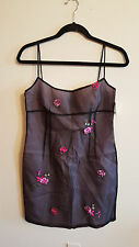 Laundry By Shelli Segal Sheer Floral Overlay Rare Exotic Dress...8P...NWT $215