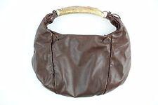 YSL MOMBASA HORBAC Chocolate Leather with Silver-Tone Hardware Handbag