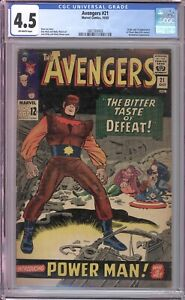 AVENGERS #21 - CGC 4.5 - 1967 / 1ST POWER MAN / ENCHANTRESS