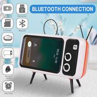 TV Electric Bracket Portable Bluetooth Speaker Retro Mini Wireless Mobile Phone-