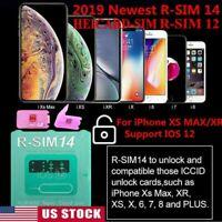 RSIM14/12+2019 R-SIM Nano Unlock Card fits iPhone X/8/7/6/6s/5s/ 4G iOS 12 lot
