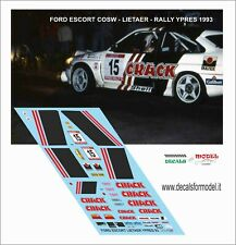 DECALS 1/43 FORD ESCORT COSW LIETAER RALLY YPRES 1993