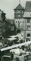 Wangen im Allgäu - Martinstor mit Markt - Großformat -wohl um 1960       S 22-23
