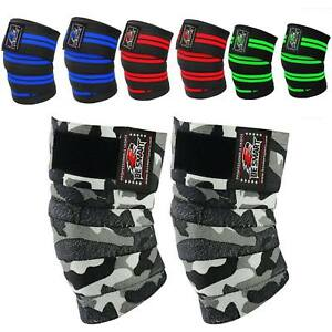 Weight lifting Knee Wraps Bandage Strap Guard Powerlifting Gym Pad Sleeves