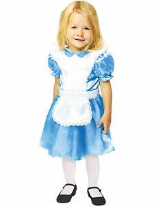 Kids Toddler Alice Fancy Dress Wonderland Costume Fairytale Book Day Girls Child