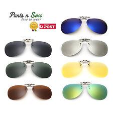 Unisex Polarized Clip On flap up Sunglasses UV 400 Protection Mens Womens