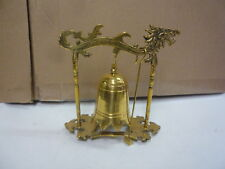 vintage gold brass dragon design bell home decor statue figurine