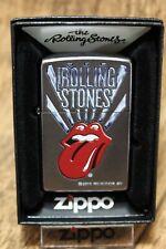 "Zippo  ""THE  ROLLING  STONES TONGUE"" - SATIN SILVER - NEU & ovp - #246"