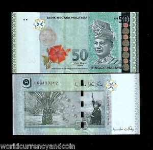 MALAYSIA 50 RINGGIT NEW 2012 KING DEER ORCHID UNC FLOWER MONEY x 1 Pce BANKNOTE