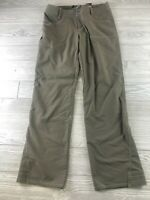 Womens Kuhl Kontra Roll Up Pants Hiking Green Brown Sz 6 Nylon Blend (A104)