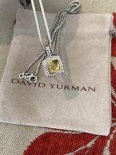 David Yurman 7mm Albion Pendant With Lemon Citrine In Sterling Silver