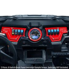 RZR XP 1000 900 8 Switch Red Dash Panel 2 Piece Polaris 2014-2017 50 caliber