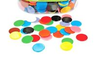 Counters Solid 22mm 100p Bag 5 Colours Maths Games Teacher Resources Counting