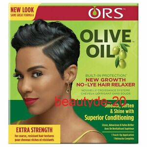 ORS Olive Oil Built-In Protection New Growth No-Lye Hair Relaxer Kit-Extra-!!!