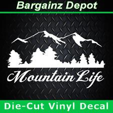 Vinyl Decal .. MOUNTAIN LIFE .. Climber Hiker Car Truck Laptop Sticker Decal