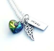 Rainbow Bridge Pet Memorial Gift, Personalised Pet Memory Jewellery, Heart Gift