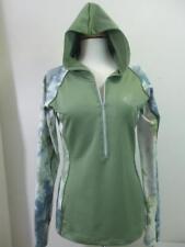 Swirlgear Women's L Stretch Running Jacket Hoodie Green Ponytail & Thumb Holes