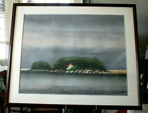 William/Bill/W Dunlap, Spring Storm-Water Works, 1986, lithograph numbered 6/30