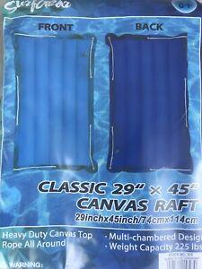 "Blue/Light Blue SurfGear Classic 29"" X 45"" Canvas Raft/Float  Surf Rider"