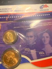James Polk PRESIDENTIAL $1 DOLLAR COIN & FIRST SPOUSE MINT MEDAL SET
