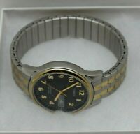 Timex Indiglo Easy Silver & Gold Color Men's Watch W/Date Expansion Band T26481