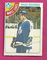 1978-79 OPC # 280 LEAFS BRUCE BOUDREAU ROOKIE EX-MT CARD (INV# C2497)