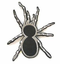 Spider Iron On Patch- Creepy Crawly Halloween Nature Embroidered Applique Badge
