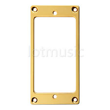 Flat Metal Humbucker Pickup Mounting Ring Gold