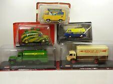 KAS23 LOT de 5 voitures PUBLICITAIRES 1/43 collection cassés broken models rotos