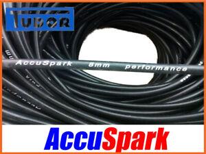 Silicone HT lead 8mm Black Genuine AccuSpark Ignition, wire. per Meter