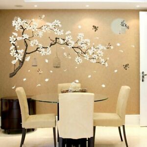 Chinese Flower Moon Wall Sticker Dining Room Background Mural Art Home Decor DIY