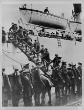 1934 British Troops Boarding Ship for Saar Press Photo